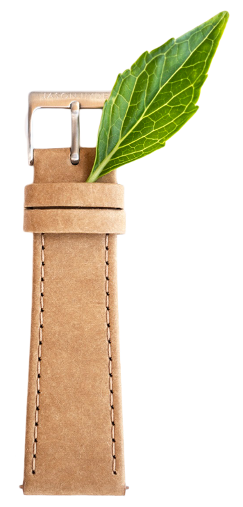 Sustainable Straps made from paper, cork and upcycled plastic